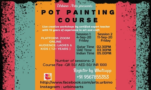 Pot Painting Course from Urbino Arts ILQ Events